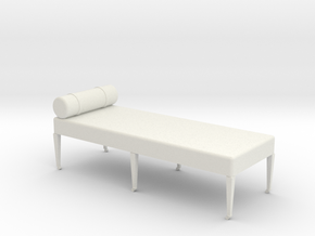 1:24 Divan in White Strong & Flexible