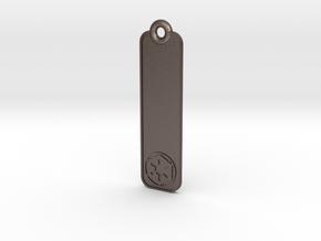 Key Fob - Imperial/Rebel Symbols in Polished Bronzed Silver Steel