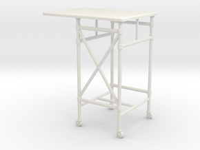 1:24 Metal Rolling Desk in White Strong & Flexible