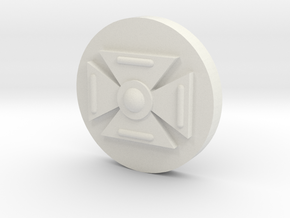 Symbol (15MM 5/8th Inch) in White Natural Versatile Plastic