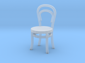 1:48 Bentwood Chair in Smooth Fine Detail Plastic