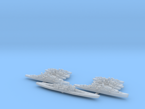 1/3000 Scale British Never Were Fleet in Smooth Fine Detail Plastic