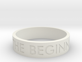 The End Is The Beginning Is The End (Size 9) in White Strong & Flexible