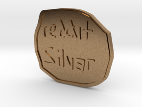 Reddit Silver Coin in Natural Brass