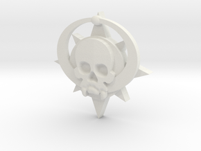 Skull symbol (small) in White Natural Versatile Plastic