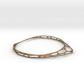 Thin Bracelet in Natural Brass