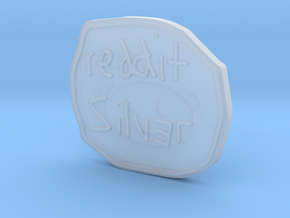 Reddit Silver Coin in Smooth Fine Detail Plastic