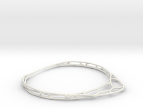 Thin Bracelet in White Natural Versatile Plastic
