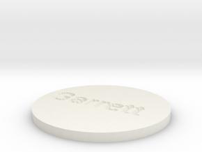 by kelecrea, engraved: Garrett in White Natural Versatile Plastic