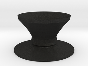 Top hat vase in Black Acrylic