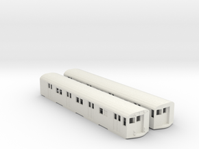 ho scale r27/r30 subway car new york city (pair) in White Natural Versatile Plastic