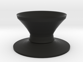 Top hat vase in Black Natural Versatile Plastic