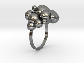bollenring in Polished Silver
