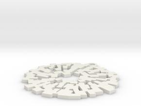 Pendaglio Tondo in White Natural Versatile Plastic