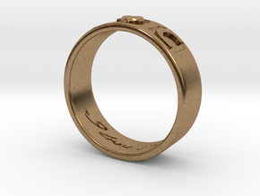 I And C ring in Natural Brass