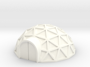 Geodome ⌀25mm  (1/285) in White Processed Versatile Plastic