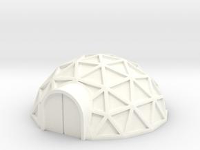 Geodome ⌀25mm  (1/285) in White Processed Versatile Plastic