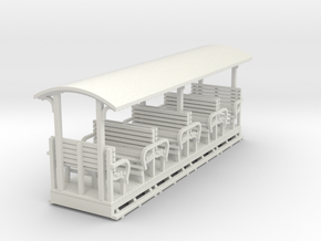 Sn2 Open crossbench coach (long) in White Natural Versatile Plastic