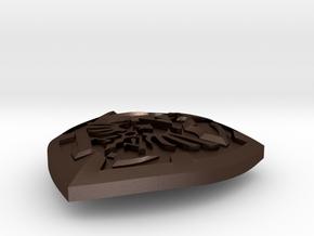 Link's Shield Pendant in Matte Bronze Steel