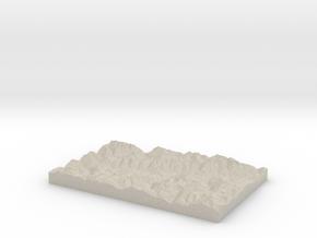 Model of Mompé Tujetsch in Sandstone