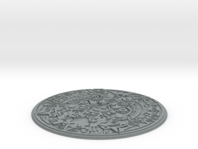 Smaller Aztec Medallion in Polished Metallic Plastic