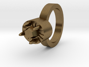 Tiger Woman Ring 20x20mm in Natural Bronze