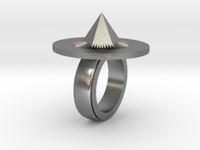 Spike Ring 20x20mm in Natural Silver
