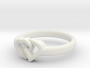 Entangled Love Small Sz20 in White Natural Versatile Plastic