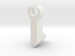 Bearded Axe in White Natural Versatile Plastic