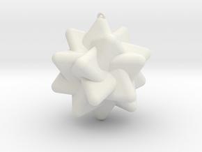 Five Tetrahedra in White Natural Versatile Plastic