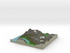 Terrafab generated model Tue Jan 28 2014 22:15:10  in Full Color Sandstone