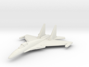 Su-37 1:285 (6mm) x1 in White Strong & Flexible