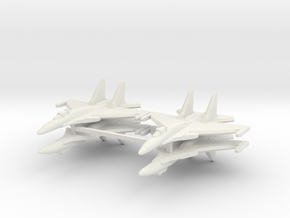 Su-37 1:700 x4 in White Natural Versatile Plastic