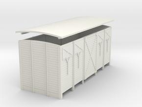 1:55 scale Van  closed vents in White Natural Versatile Plastic