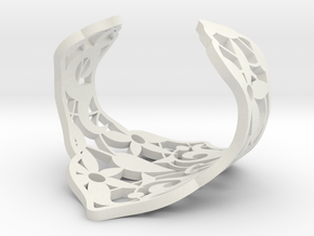 Alhambra cuff bracelet by The Decahedralist in White Natural Versatile Plastic