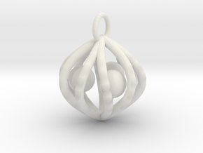 ballcagecharm in White Natural Versatile Plastic