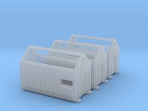 Z logging - Storage Sheds (3pcs) in Smooth Fine Detail Plastic