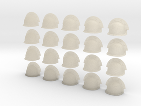 20 Heroic/TrueScale Custom Shoulder Pad Plain Doub in White Acrylic