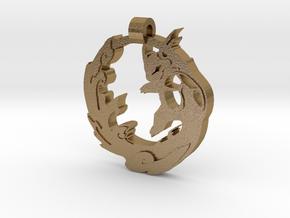 Wartortle Pendant in Polished Gold Steel