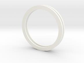 Idler Ring Multiple in White Processed Versatile Plastic