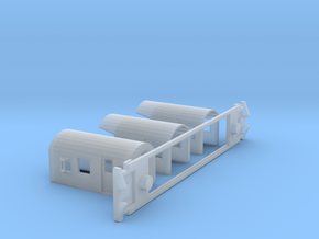 FM Guards Van, New Zealand, (N Scale, 1:160) in Smooth Fine Detail Plastic