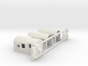 FM Guards Van, New Zealand, (HO Scale, 1:87) in White Natural Versatile Plastic