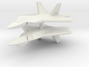 1/600 F-22A Raptor (WSF, x2) in White Natural Versatile Plastic