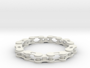 bike chain bracelet in White Natural Versatile Plastic