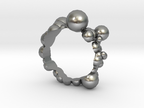 Bubble Ring in Natural Silver