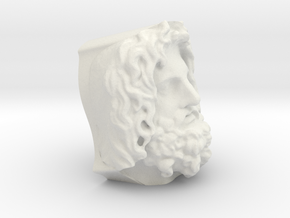 Head Of Serapis in White Natural Versatile Plastic