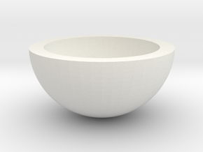 HalfHollowSphere25 in White Natural Versatile Plastic