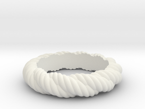Torque Ring Size 23 in White Natural Versatile Plastic