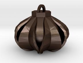 Lantern in Matte Bronze Steel