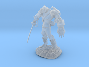 Mech Warrior1 20mm high in Smooth Fine Detail Plastic
